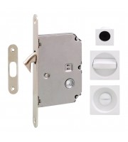 Набор для раздвижных дверей Fimet 3667R белый Для раздвижной системы Ручки купе