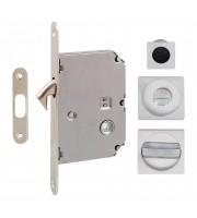 Набор для раздвижных дверей Fimet 3667R матовый хром Для раздвижной системы Ручки купе