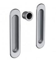 Ручки для раздвижных дверей AGB Мат хром к-т Для раздвижной системы Ручки купе