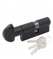 Цилиндр Cortellezzi Primo 117F ключ/поворот. черный Цилиндровые механизмы для замков Cortellezzi Primo (Италия)