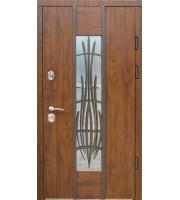 Двери Авеню с ковкой дуб бронзовый «Redfort» (Украина)