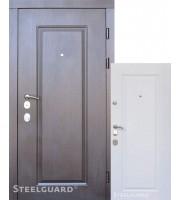 Двери DP-1 Венге/белый мат «Steelguard» (Стилгард) Украина