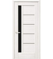Двери Грета ПО BLK  Межкомнатные двери   Золотой дуб