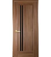 Двери Делла ПО BLK  Межкомнатные двери   Золотой дуб