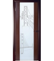 Двери Глазго ПО Шпонированные под заказ