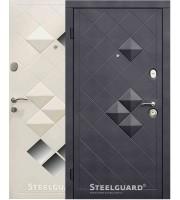 Двери Luxor Черный мат/Белый шелк «Steelguard» (Стилгард) Украина